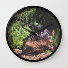 The king of the cats Wall Clock