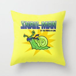 Snail-Man, by the Power of Slime Throw Pillow