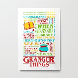 Granger Things Metal Print