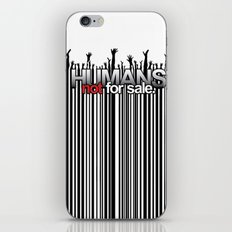 Humans Not For Sale iPhone & iPod Skin