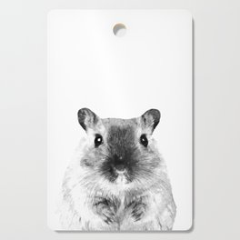 Black and White Hamster Cutting Board