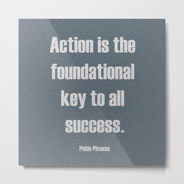 Key to success. Metal Print