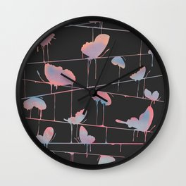 Hanging On for Dear Life Wall Clock