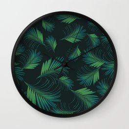 Tropical Night Palms Pattern #1 #tropical #decor #art #society6 Wall Clock
