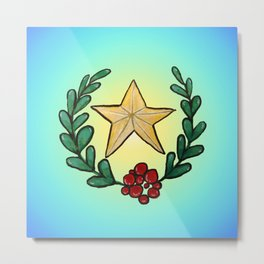 Watercolor - You Are My Lucky Star Metal Print