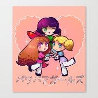 powerpuff girls Canvas Prints featuring PowerPuff  by Mickey Spectrum