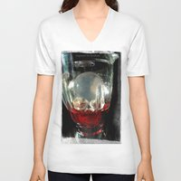cocktail V-neck T-shirts featuring Deadly Cocktail by Jorgenson Art Syndicate
