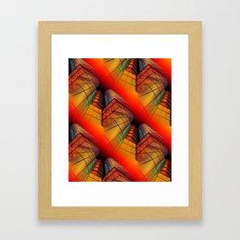 3D - abstraction -63- Framed Art Print