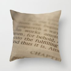 Conclusion Throw Pillow