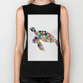 Colorful Geometric Turtle Biker Tank