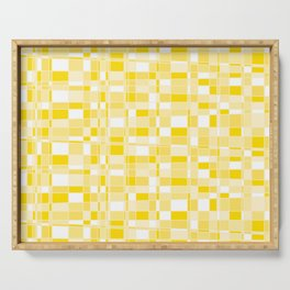 Mod Gingham - Yellow Serving Tray