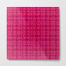 Pink Basket Metal Print