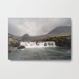 Waterfall in Scotland Metal Print