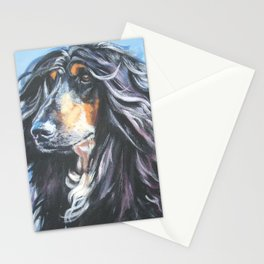 Afghan Hound Beautiful Fine Art Dog Painting by L.A.Shepard Stationery Cards