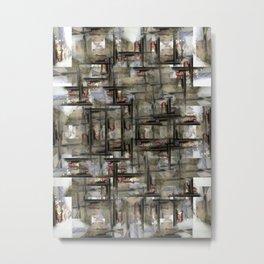 The visual equivalent of using windows as doorways, or vice versa? 3/4 Metal Print