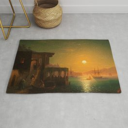 Constantinople Sunset by Ivan Aivazovsky Rug