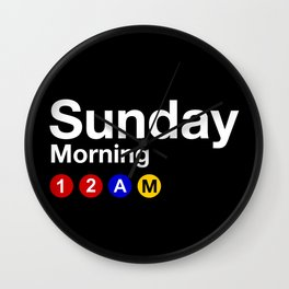 Sunday Morning 12AM Wall Clock