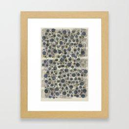 Soda Water Scribble Framed Art Print