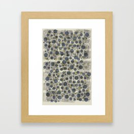 Soda Water Scribble Framed Art Print