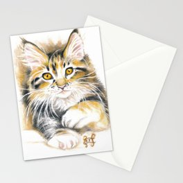 Maine Coon Kitty Stationery Cards