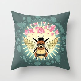 Apis: The Sun Throw Pillow