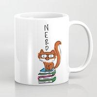 nerd Mugs featuring Nerd by Anabella Nolasco