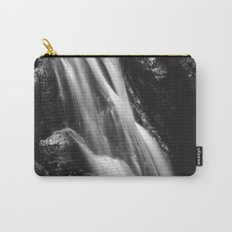 Black and white waterfall in Hell Gorge, Slovenia Carry-All Pouch