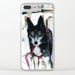 Before the husky ride Clear iPhone Case