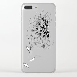 Half Dahlia Clear iPhone Case
