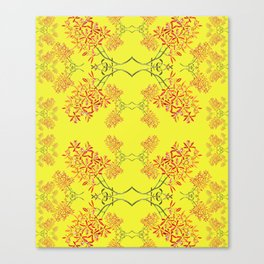 Orchids on Yellow Canvas Print