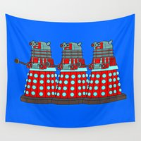 doctor who Wall Tapestries featuring Doctor Who by Alli Vanes