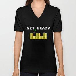GET READY Unisex V-Neck