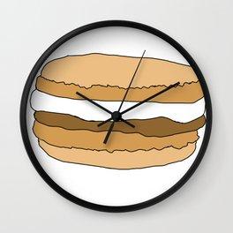 Chocolate Macarons Cartoon Vector Art Wall Clock