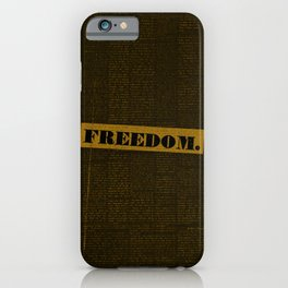 my mind on freedom iPhone Case