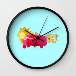 Horse of the River Wall Clock