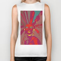 medusa Biker Tanks featuring MEDUSA by Julia Lillard Art