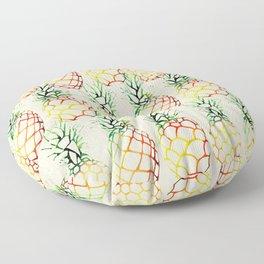 Burlap Pineapples Floor Pillow