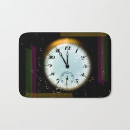 Time passes like soap bubbles Bath Mat