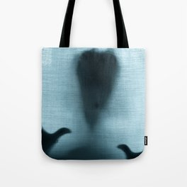 Figure behind a curtain Tote Bag