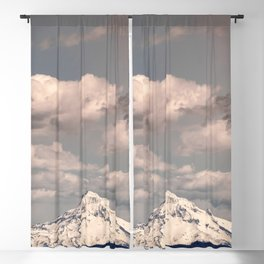 Mount Hood III - Snow Capped Mountain Adventure Nature Photography Blackout Curtain
