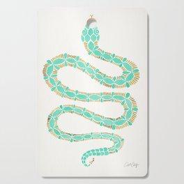 Mint & Gold Serpent Cutting Board
