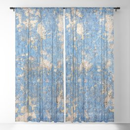 Textures in Blue Sheer Curtain