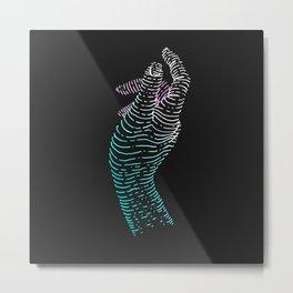 X Contour Hand Metal Print