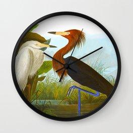 Purple Heron Wall Clock