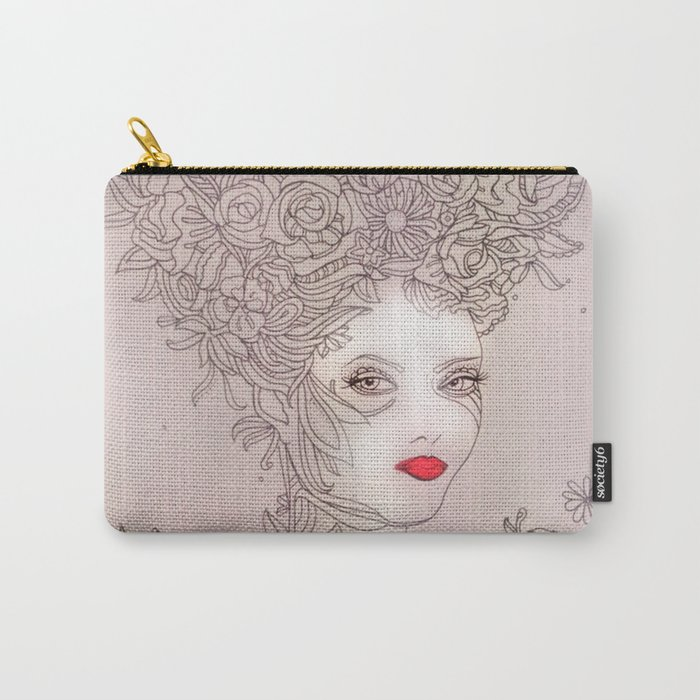 Rose in hair Carry-All Pouch