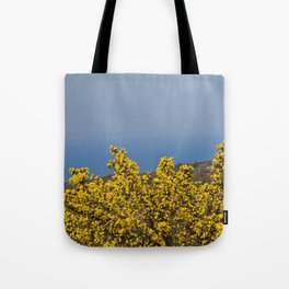 Landscape on mountain with blue sky Tote Bag