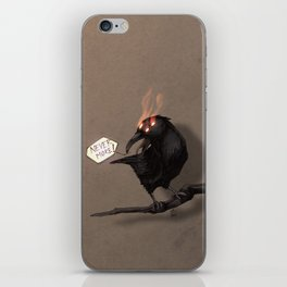 never more iPhone Skin