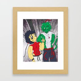 Mash challenges Hara Framed Art Print
