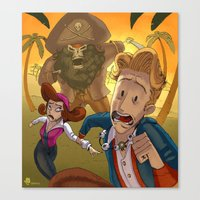 monkey island Canvas Prints featuring Monkey Island - RUN by Gromy
