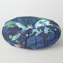 Self motivation series to dream big flower text pattern Floor Pillow